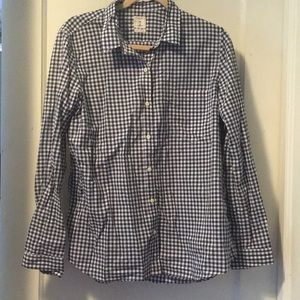 Gap navy gingham shirt The Fitted Boyfriend